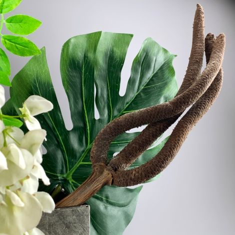 Palm Fingers x 2, approx. 42 cm long by 7 cm Wide. Natural Dried Floral Deco