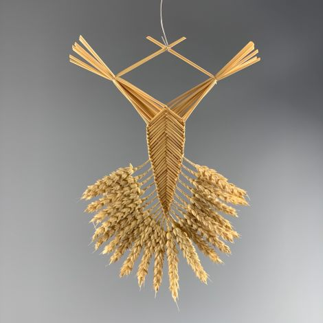 Corn Doll. Welsh Border Fan approx. 30 cm by 15 cm. Grown and hand made in the UK