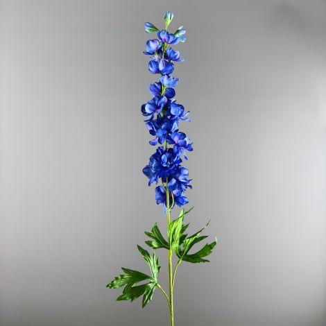 Delphinium, Blue 86 cm tall artificial stem with foliage