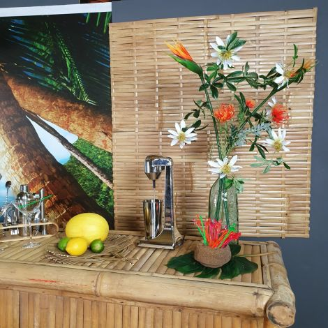Bamboo Woven Deco/Fence Panel, approx. 1.1 m Wide by 60 cm Tall