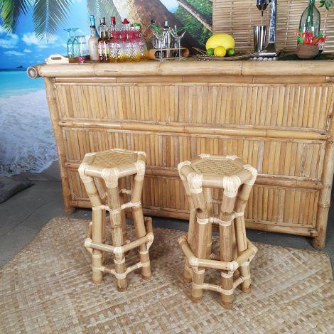 Bamboo Stool, Craftsman made, 70 cm high
