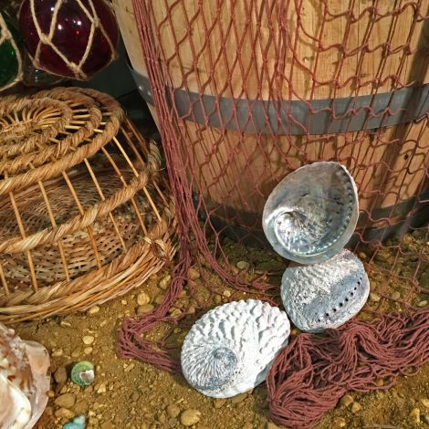 Fishing Nets, faux vintage approx 1.5 m x 2 m