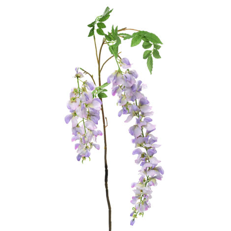 Wisteria Stem, Lilac, 107cm long artificial flowers and bloom