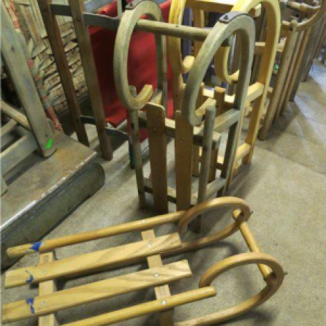 Vintage Wooden Toboggans direct from the alps RENTAL ONLY